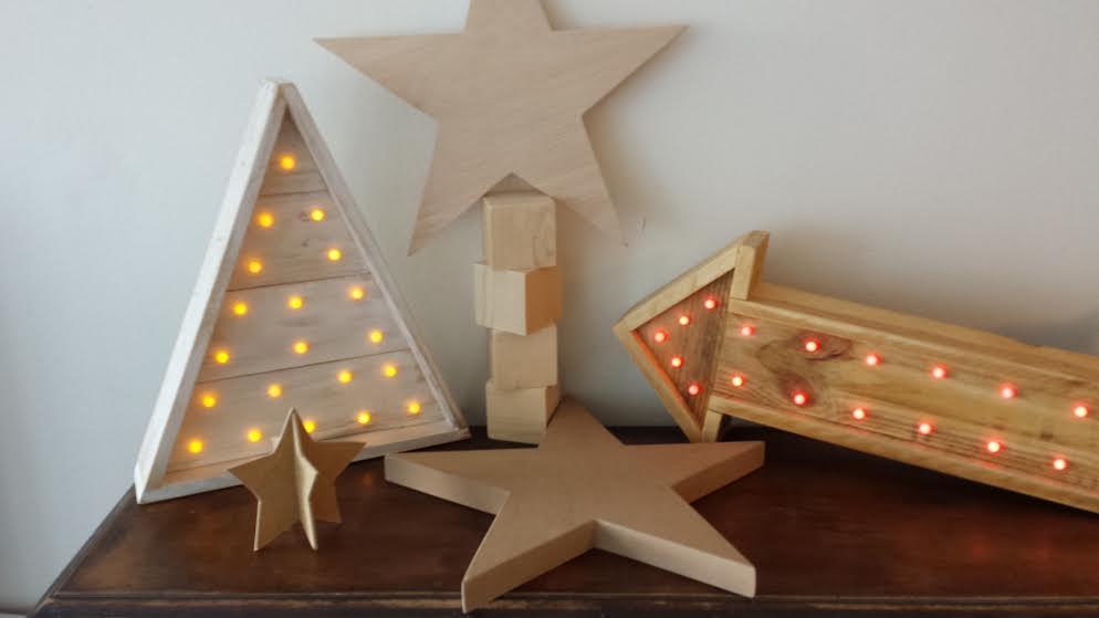 Nituwood adornos navide os hechos a mano - Escaleras de madera adorno ...